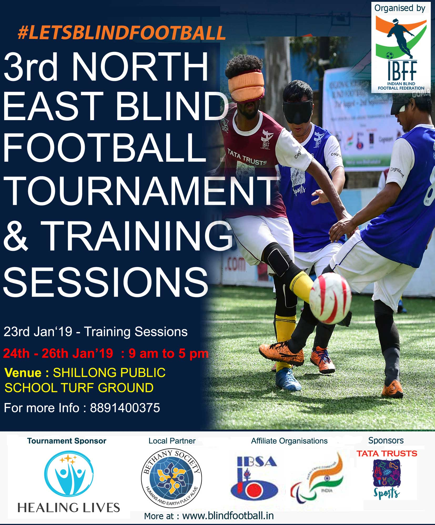 Third North East Blind Football Tournament - Shillong 24-26 Jan 2019