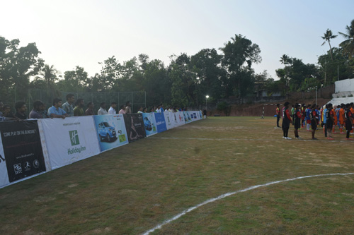 audience of football match All India Invitational Blind Football Tournament at Aluva