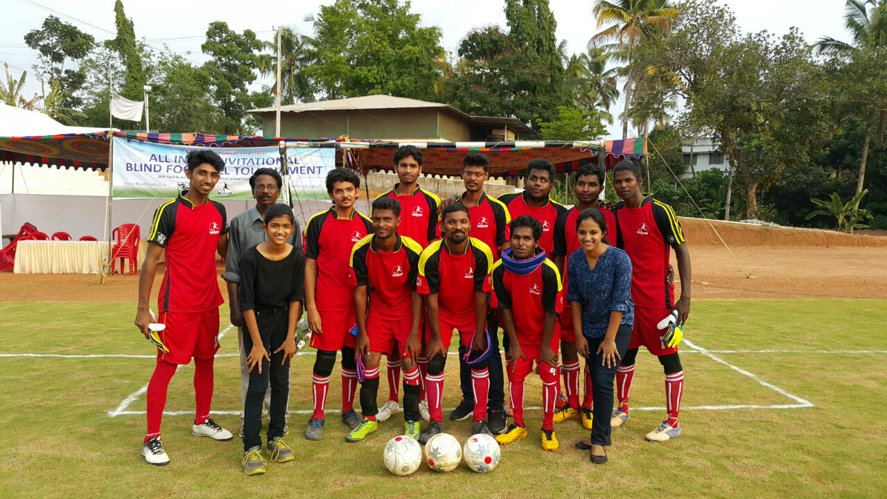 Team srvc at All India Invitational Blind Football Tournament at Aluva