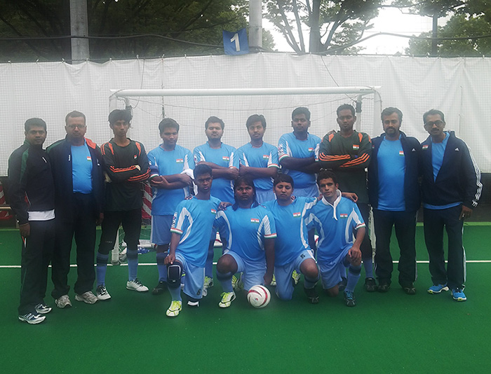 Team india with officials