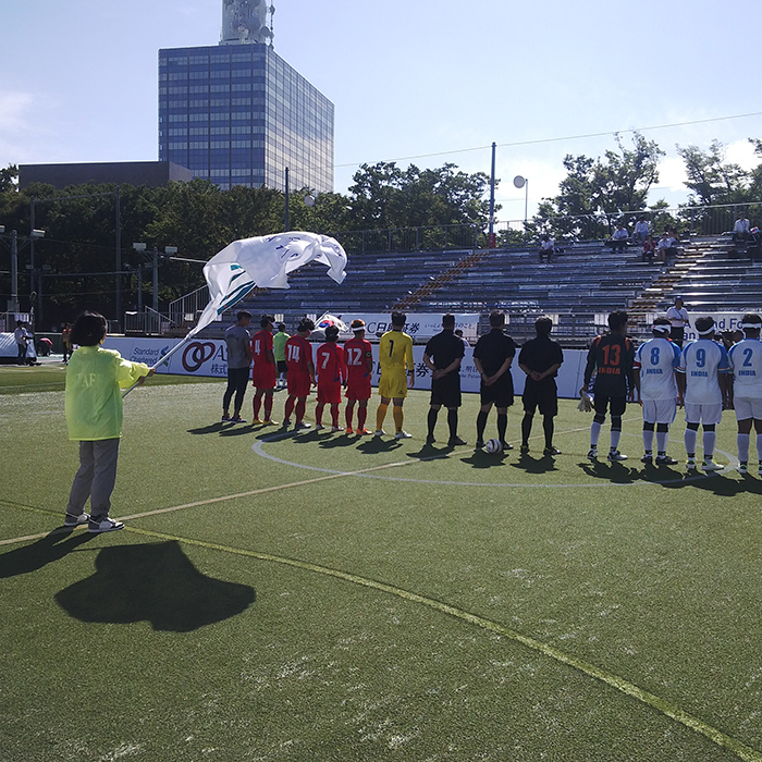 Team line up before match Asian Blind Football Championships ,Tokyo
