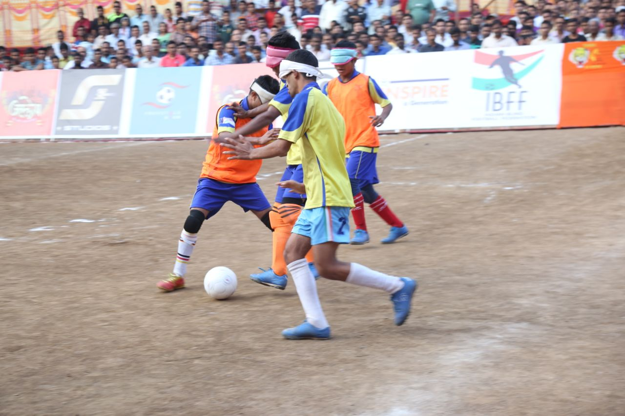 Blind Football exhibition game