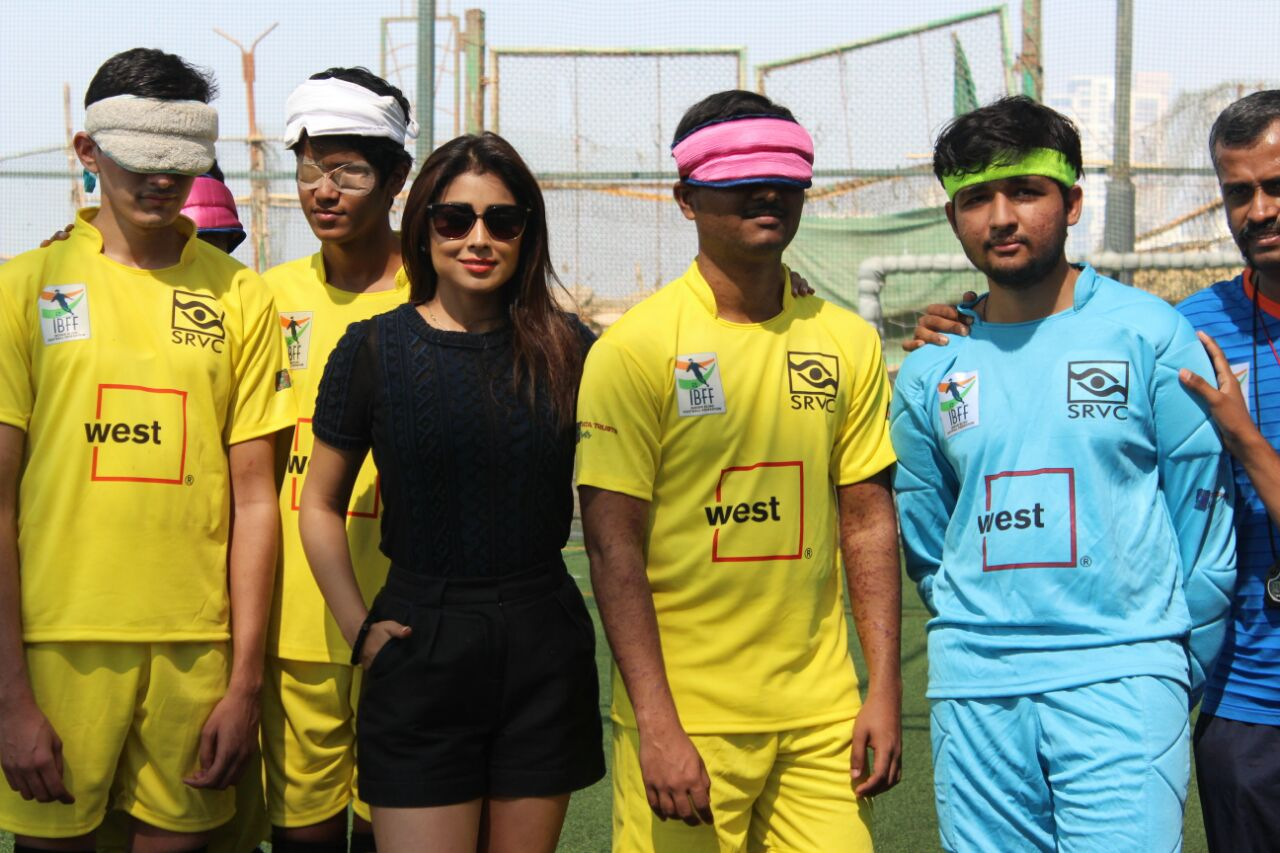 bollywood actress shriya saran with players