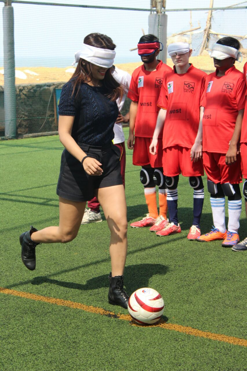 actress shriya saran kick off ball
