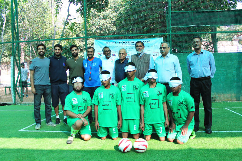Blind Football Demo game and Awareness session in New Delhi