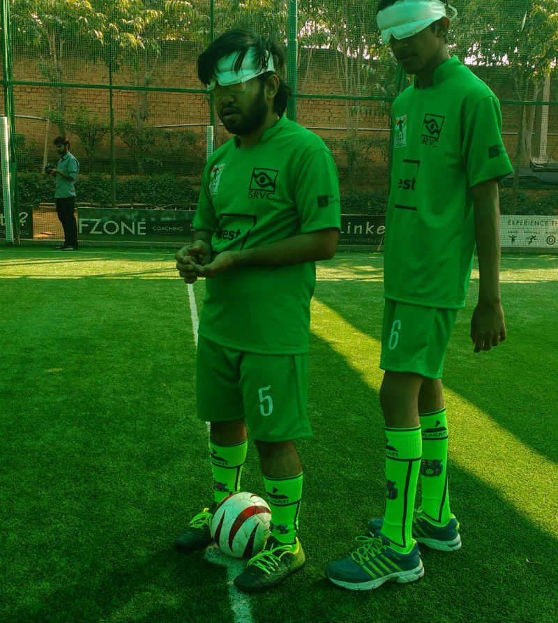 Team with football