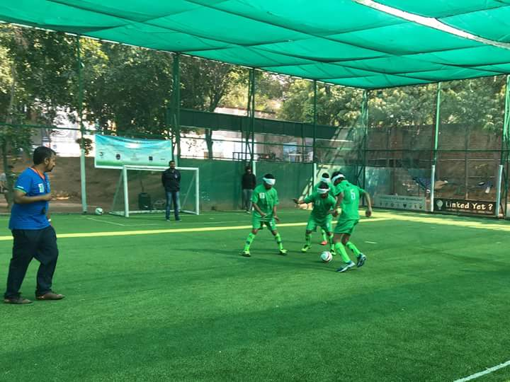 photo during Blind Football Demo game and Awareness session in New Delhi