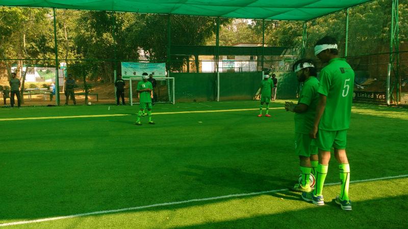 Team preparing for match