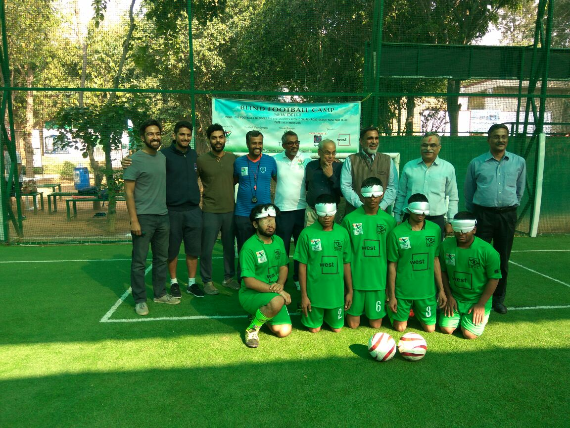 team with Blind Football Demo game and Awareness session Organisers