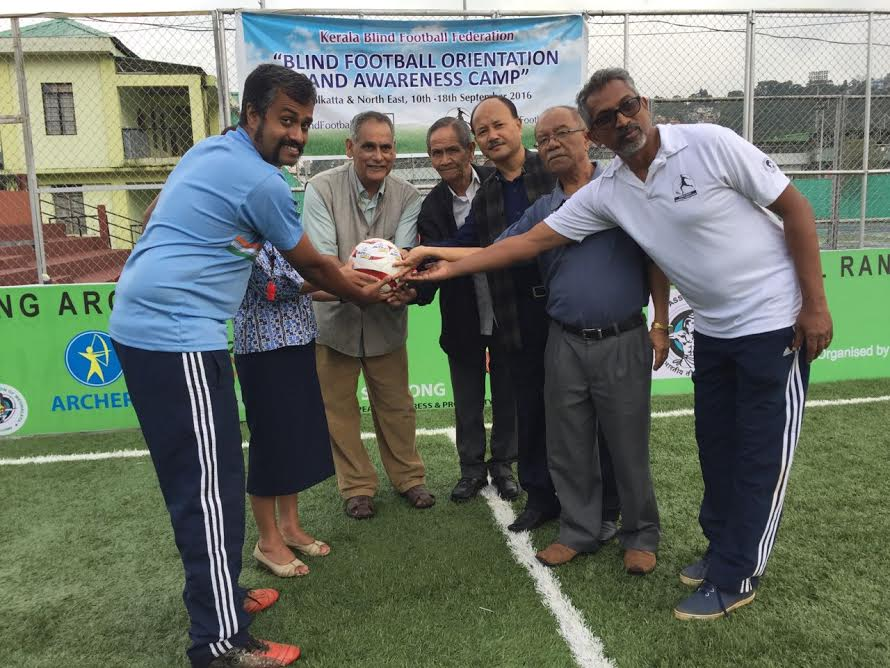 blindfootball orientation and awareness camp Shillong, Meghalaya