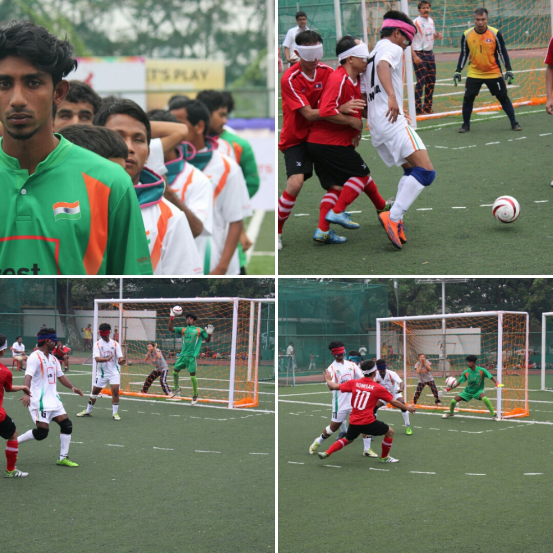 photo collage of football match