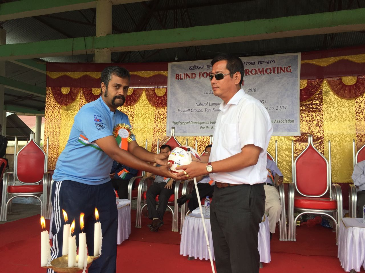 photos from blindfootball promotion camp at Imphal, Manipur