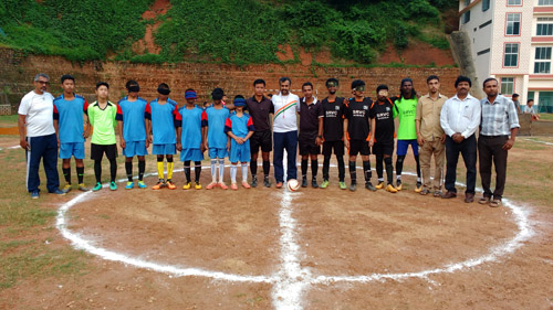 Team line up before match at Guwahati, Assam