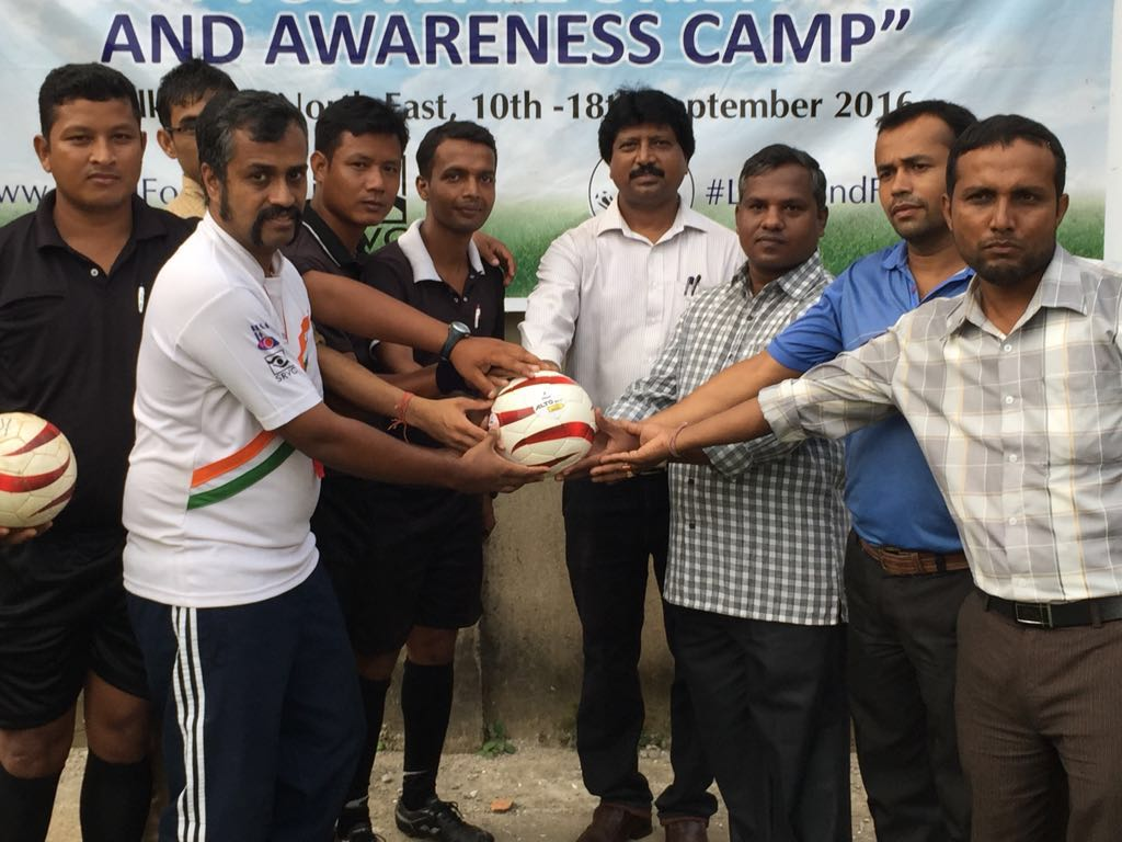 Blindfootball awareness camp at Guwahati, Assam