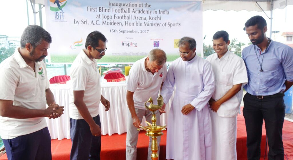 blindfootball academy inauguration lamp lighting ceremony