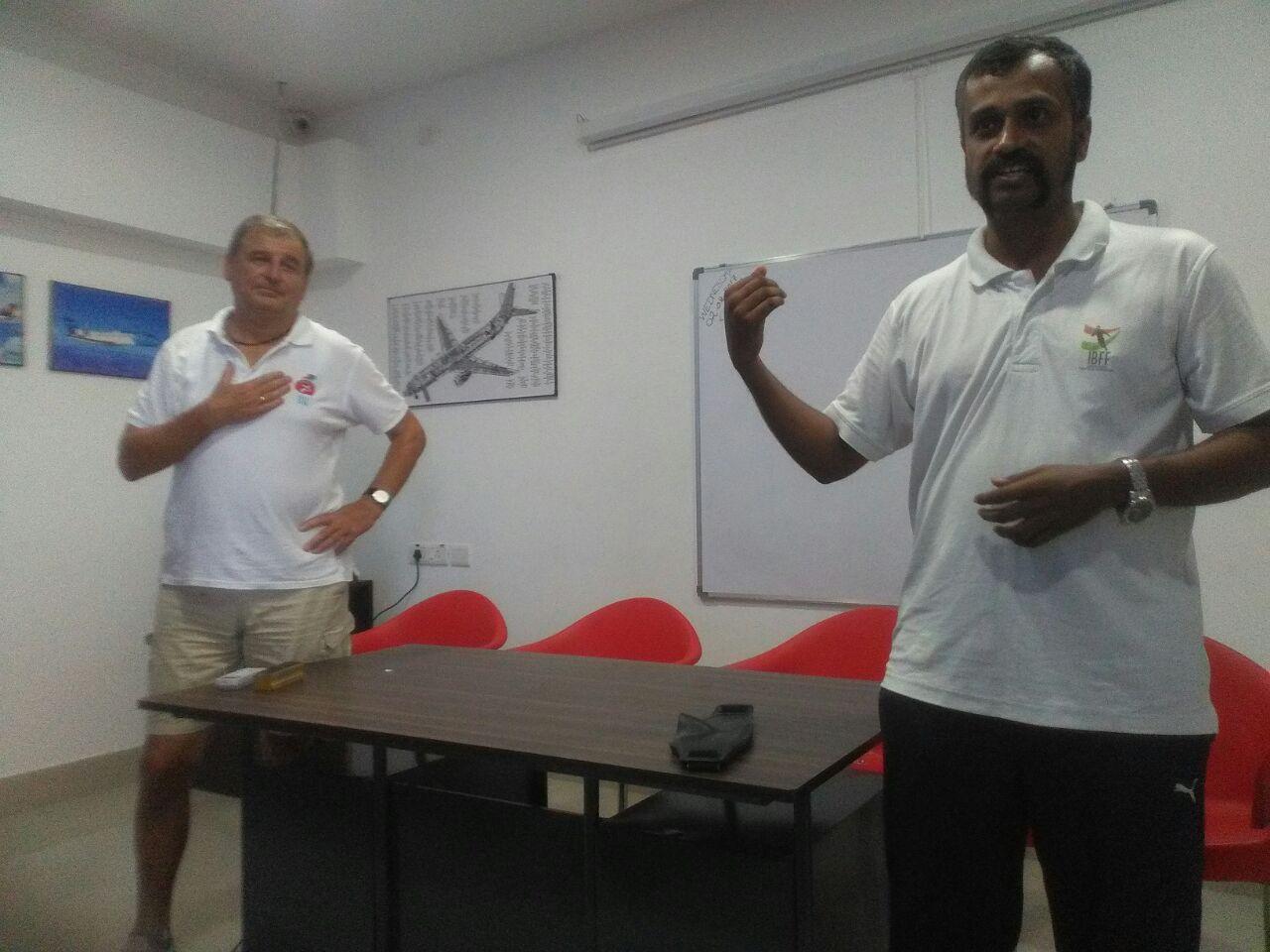 A training session by sunil j mathew