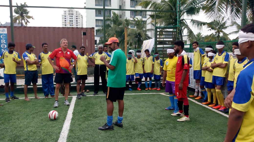 Training sessions at Blind Football training academy
