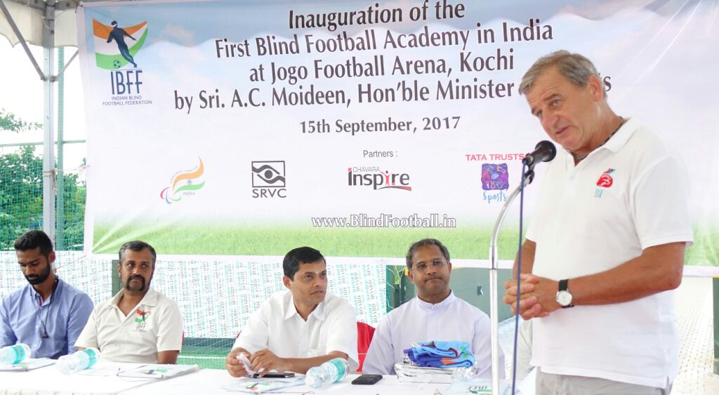 Talking Ulrich Pfisterer on Inauguration of first blind football academy in india