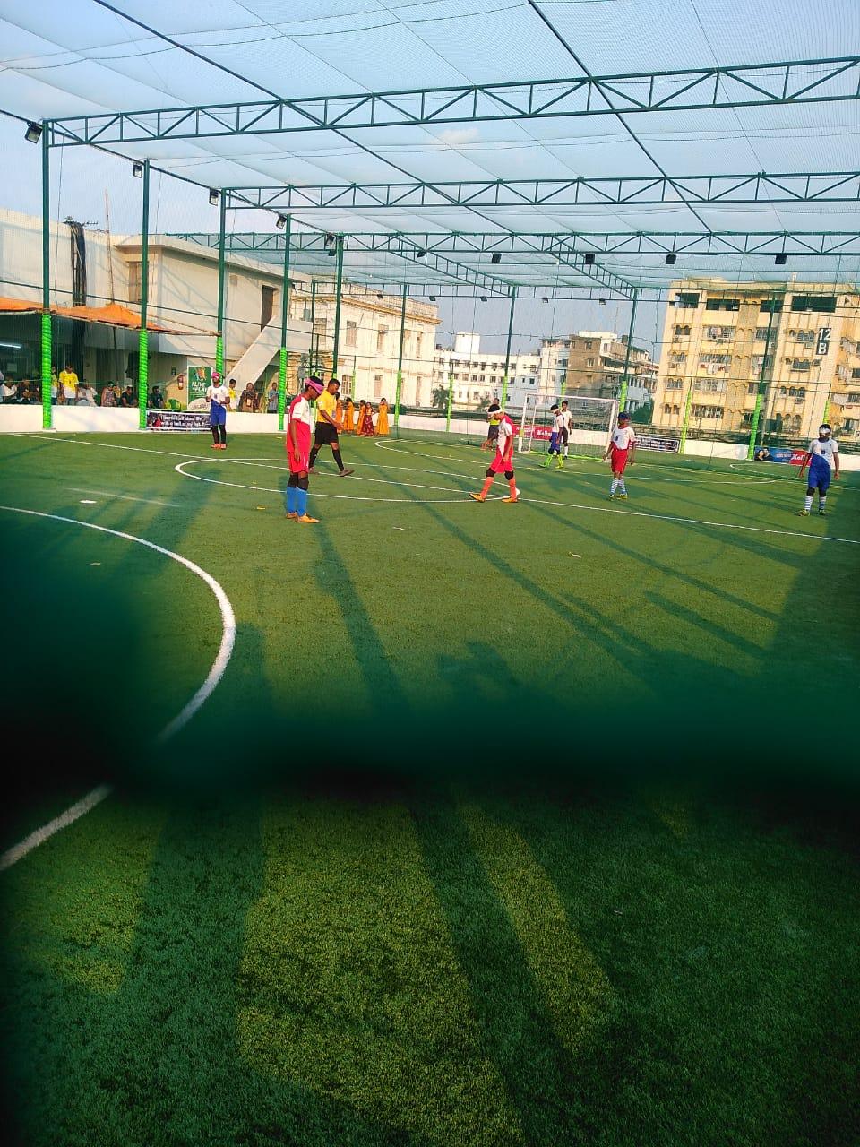 photo of match during East Zone Blind Football Tournament, Kolkata