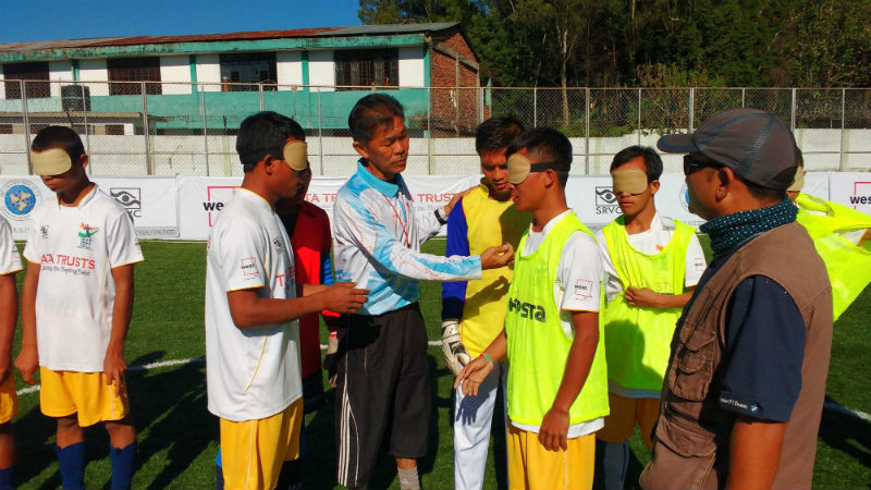 stills from Indian Blind Football Second Tour of North East in OCT 2016