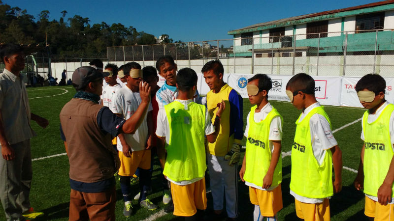 photo from Indian Blind Football Second Tour of North East in OCT 2016
