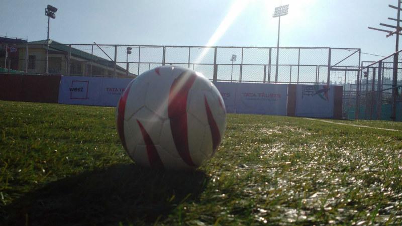 Football on ground
