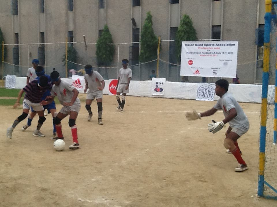 Team india preparing for 8th IBSA Blind Football Championships friendly match