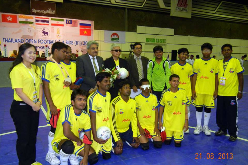 Team india with IBSA officials