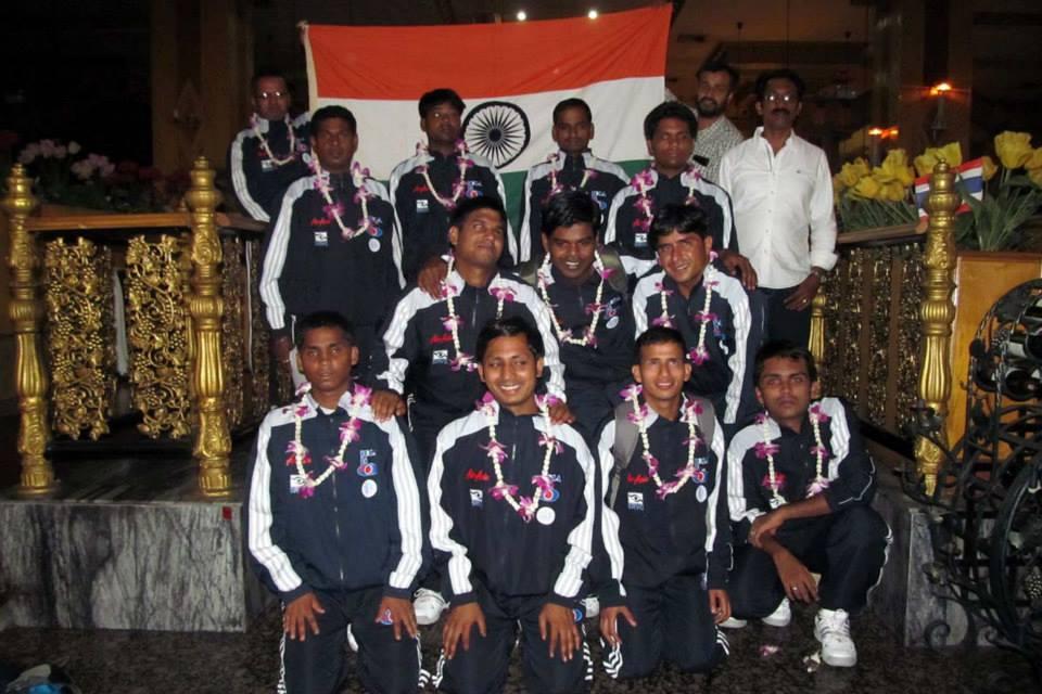 Team india posing to camera bangkok