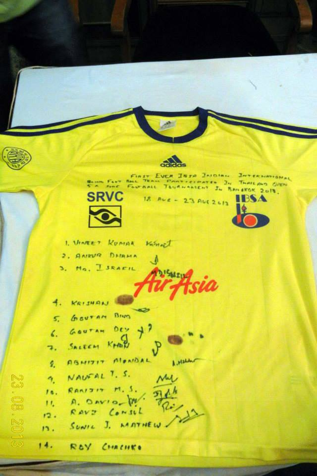 The most precious item team jersey with signature