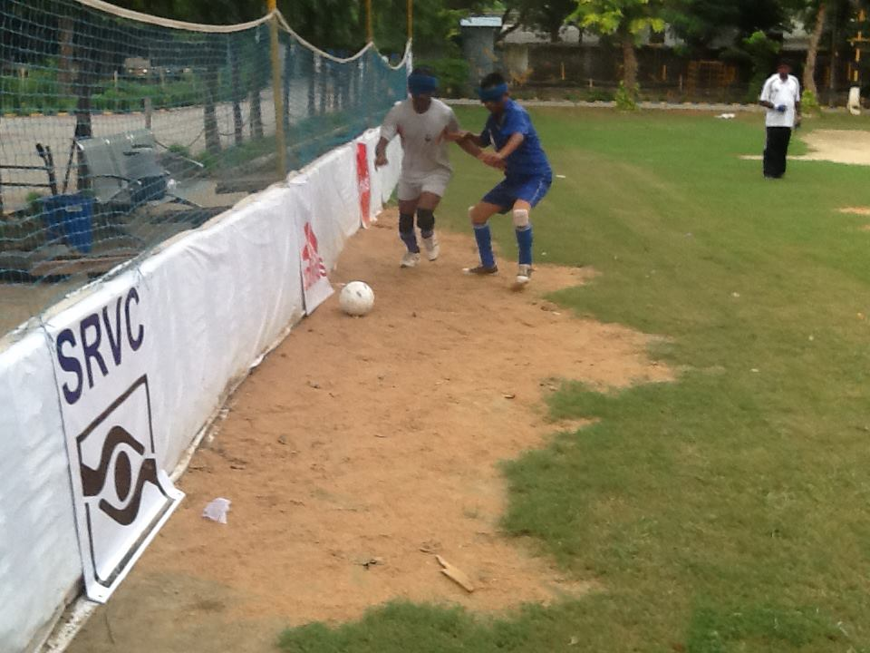Football match photos 8th IBSA National Football Championships delhi