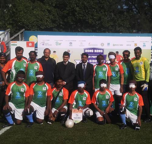 Indian team with hong kong officials