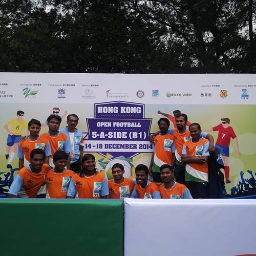 Team india posing to camera hong kong