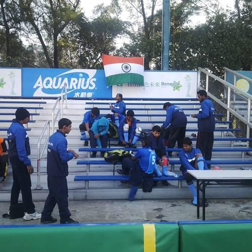 Team indias morning practice at hong kong