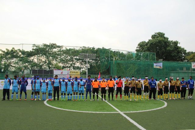 Team india and team malaysia line up before match