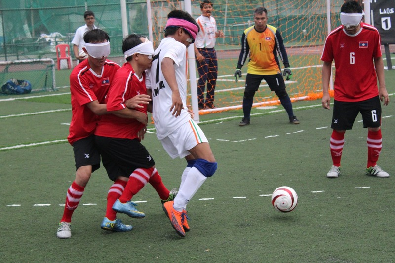 Another good tackling from indian player against laos