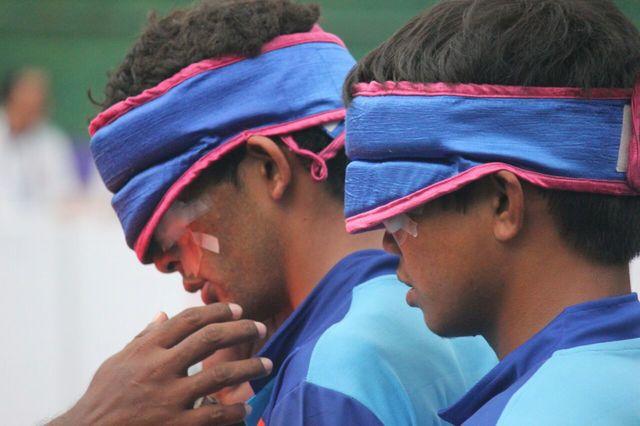 very close photograph of player Pankaj Rana
