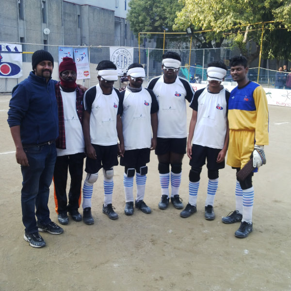 SRVC team at  IBSA National B1 Blind Football Championships - Delhi, Jan 2015