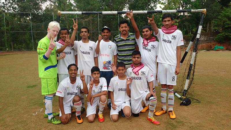 Dehradun players at Second All India Invitational Blind Football Tournament