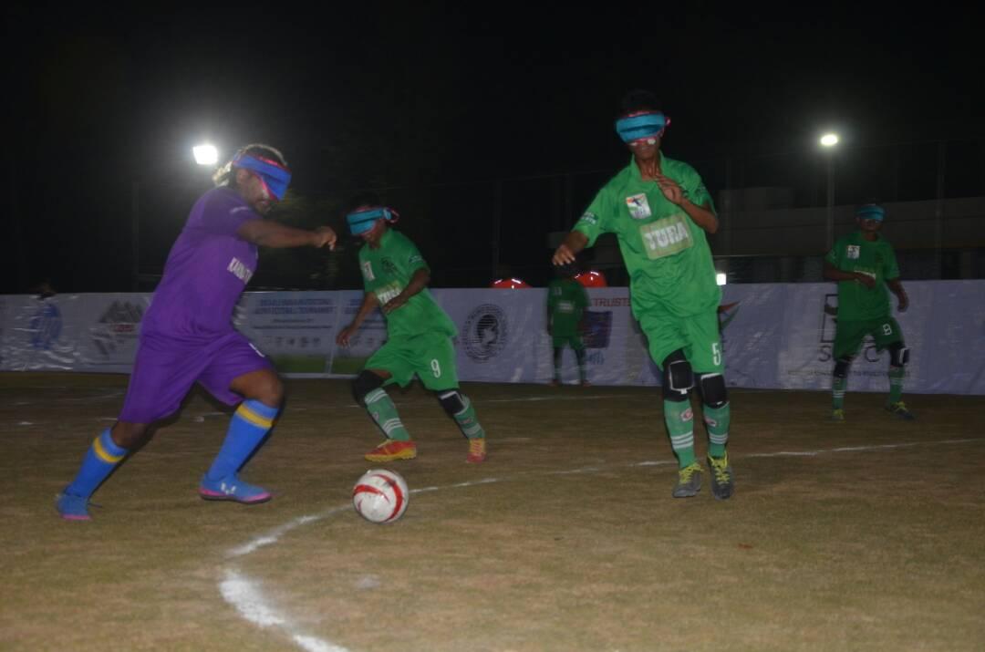 photo during karnataka vs tura football match