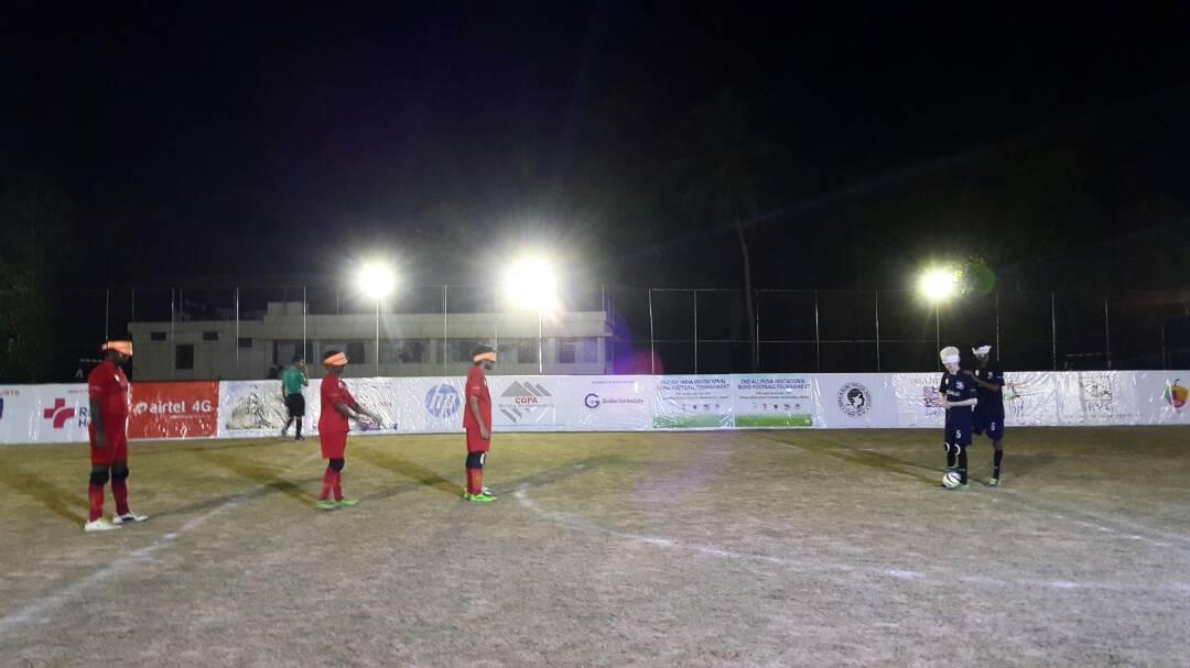 Player preparing for kick off
