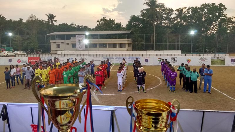 All team line up for Second All India Invitational Blind Football Tournament