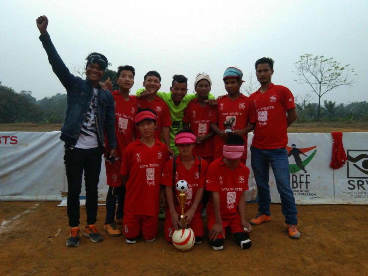 winners of Second Edition of the North East Blind Football Tournament