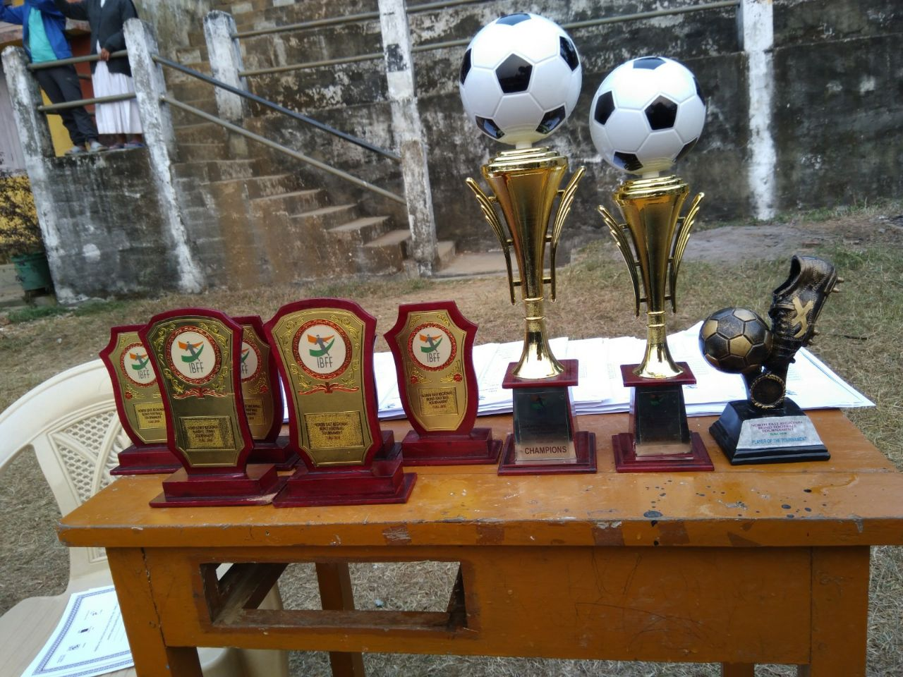 Trophies of Second Edition of the North East Blind Football Tournament